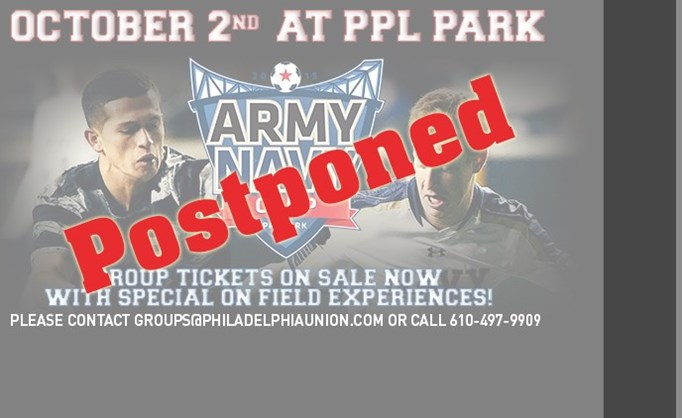 Army-Navy Cup Postponed