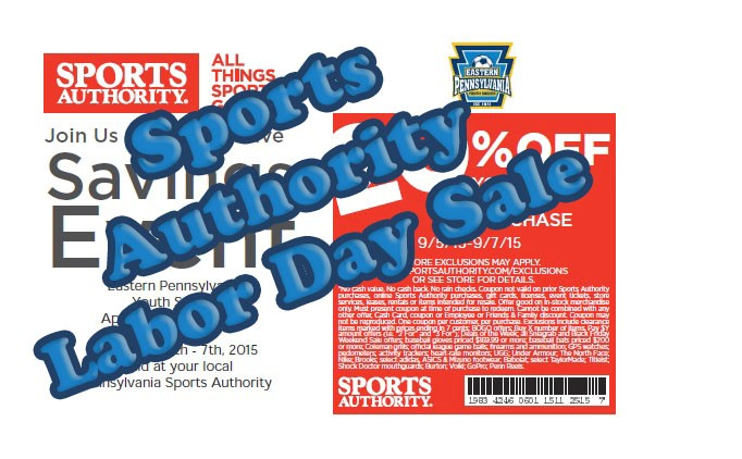 Sports Authority Labor Day Sale