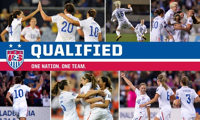 USWNT head to 2015 FIFA Women's World Cup