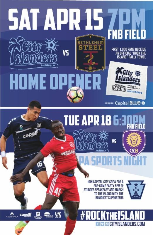 City Islanders Home Opener email