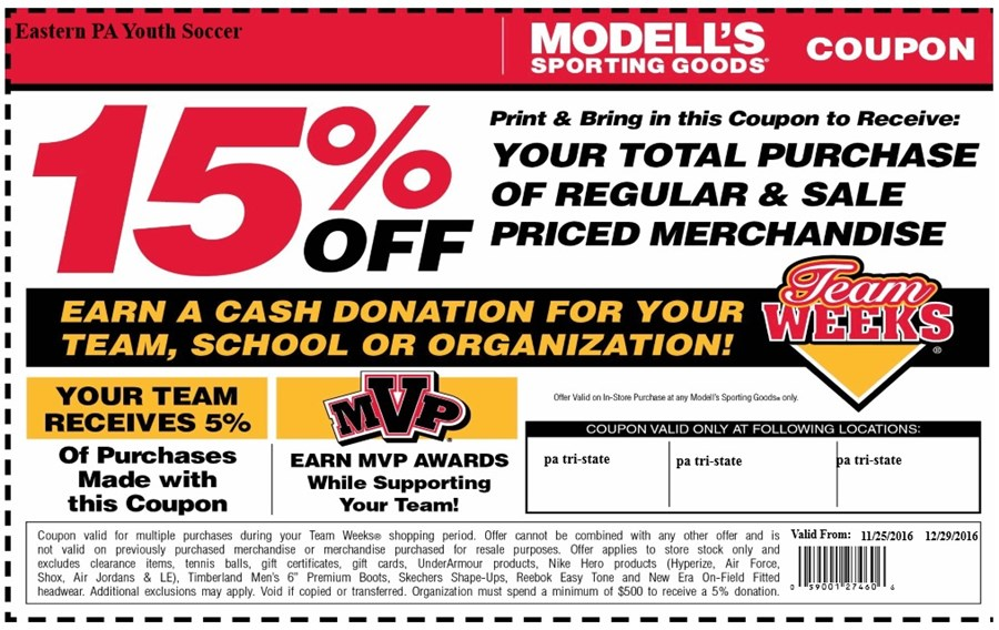 Black Friday Modells team weeks