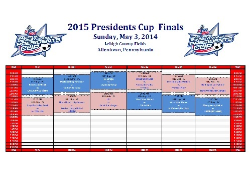 pres cup schedule picture