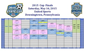Screen shot schedule Saturday