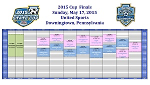 screen shot schedule Sunday