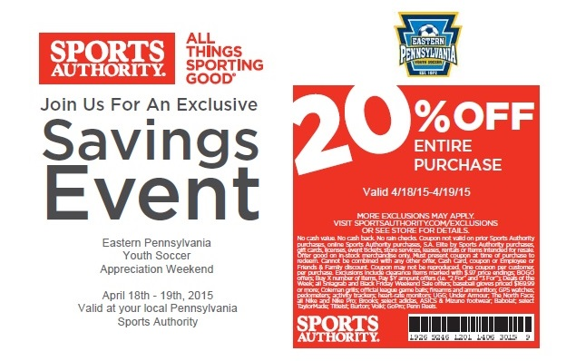 The Sports Authority Eastern Pennsylvania Youth Soccer Weekend